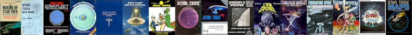 Covers of Old School Trek Books and Games